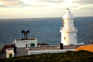 Pendeen lighthouse in the northwest of West Penwith - with foghorn!