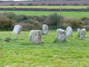 Part of Merry Maidens stone circle