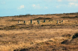 Nine Maidens stone circle, above Men an Tol