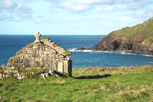 An old Celtic oratory at Cape Cornwall, 1,500 years old