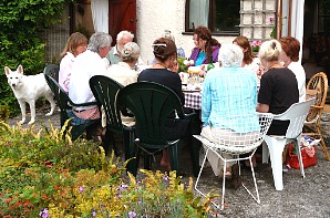 Parallel Community core group, relaxing together, 2009