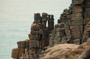 Amazing granite rock formations at Carn Boel, south of Land's End