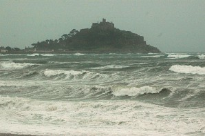 St Michael's Mount in a storm